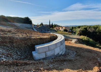 Réalisation d'un Mur de Soutènement pour un Programme Immobilier : Les Bastides de Montaleigne