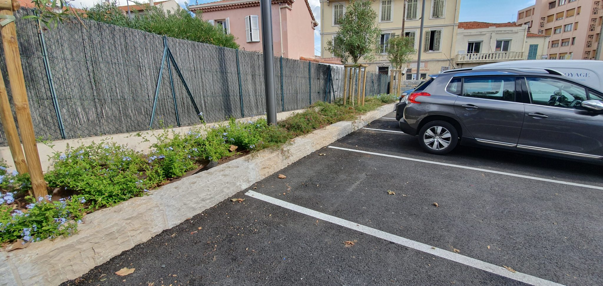 Chantier parking platanes cannes