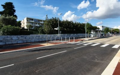 Mur de Soutènement Mis en Place pour le BHNS de la Ville d'Antibes