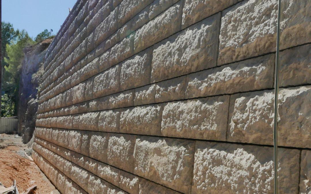 Mur Modulaire de soutènement  de 6.80m de Haut  pour un chantier Pro.