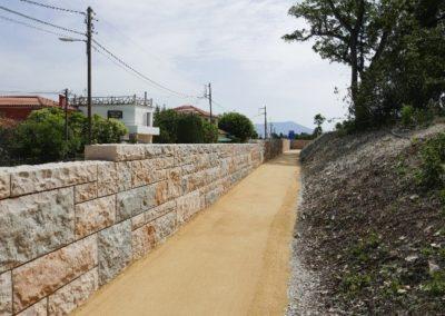 Mur en Pierre Naturelle avec Modul'Pierre Modbloc . Programme Altarea Cogedim «Le Domaine de Gairaut»